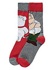 Family Guy Multi Pack Of 2 Socks
