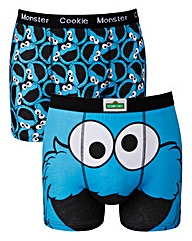 Cookie Monster Blue Pack Of 2 Boxers