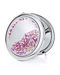 Mood Pink heart compact mirror