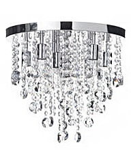 9 Lt Circular Bathroom Ceiling Light-Chm