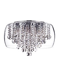 Nore LED Large Bathroom Ceiling-Chrome