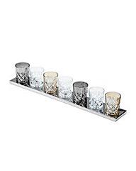 Tumbler 7 Light Table Lamp-Glass & Chr