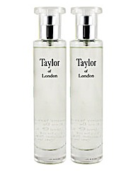 Taylors Of London 50ml EDT Jasmine BOGOF