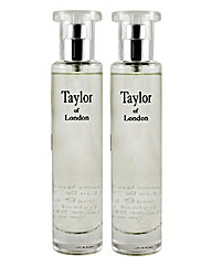 Taylors Of London Orchid 50ml EDT BOGOF