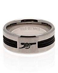 Stainless Steel Football Crest Ring