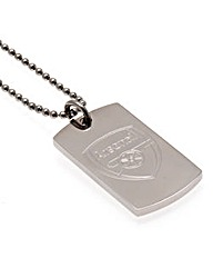 Stainless Steel Football Crest Dog Tag