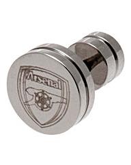 Round Football Crest Stud Earring