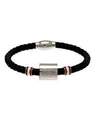 Football Crest Leather Bracelet