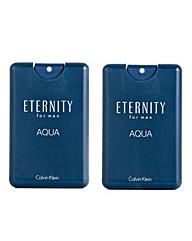 CK For Eternity for Men Aqua 20ml- BOGOF