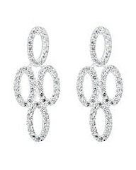 Simply Silver Oval chandelier earring