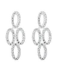 Simply Silver Oval chandelier earring