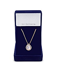 Jon Richard rose gold teardrop pendant