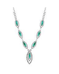 Jon Richard Green navette necklace