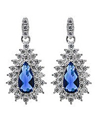 Jon Richard blue teardrop earring