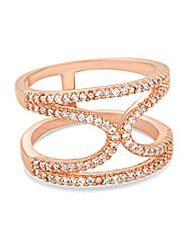 Jon Richard Pave crystal rose gold ring
