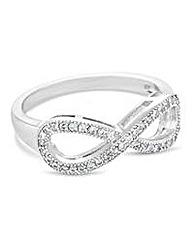 Jon Richard Pave crystal infinity ring