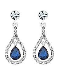 Jon Richard blue crystal drop earring