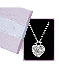 Jon Richard crystal heart t bar necklace