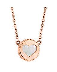 Simply Silver Heart cut out necklace