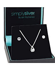 Simply Silver Teardrop jewellery set