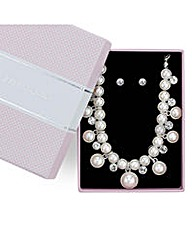 Jon Richard Pearl Crystal Jewellery Set