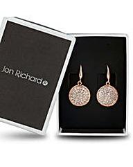 Jon Richard crystal disk drop earring