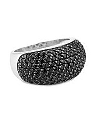 Simply Silver black pave ring