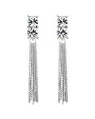 Jon Richard tassel drop earring