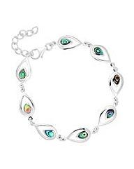 Simply Silver abalone peardrop bracelet