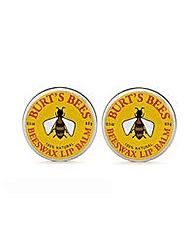 Burts Bees Two Beeswax Lip Balm Tins