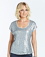 Nightingales Sequin Jersey Top