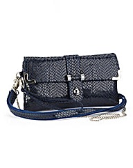 Nightingales Navy Leather Bag
