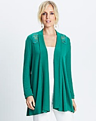 Cardigan with Crochet Back Detail
