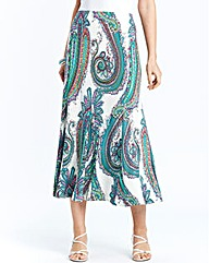 Nightingales Printed Godet Skirt