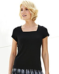 Nightingales Square Neck Jersey Top