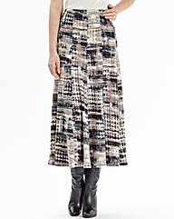 Nightingales Warm Handle Print Skirt