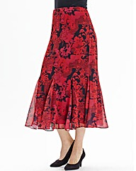 Nightingales Print Skirt