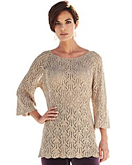Nightingales Sequin Pointelle Jumper