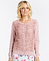 Nightingales Chiffon Front Cardigan