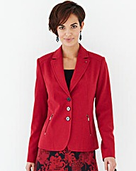 Jacket With Contrast Buttons And Zips