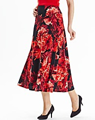 Nightingales Printed Jersey Skirt L32in