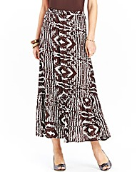 Print Tier Effect Skirt Length 32in