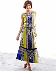 Nightingales Print Maxi Dress