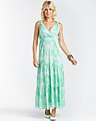 Maxi Dress with Sequins at Neckline 52IN