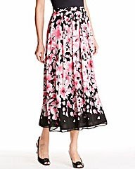 Nightingales Border Print Skirt
