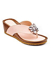 Cushion Walk Jewelled Footbed Wedges E