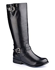 Legroom Double Buckle Boot Curvy Plus E