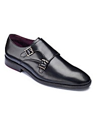 Black Label by Jacamo Monk Shoe W Fit