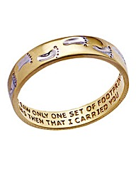9 Carat Gold Footprints Band Ring