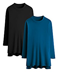 Pack of 2 Turtle Neck T-Shirt